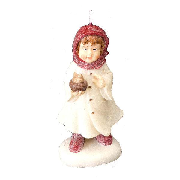 Caroling Girl Sugared: Candle Large
