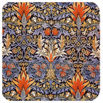 William Morris Pineapple Coaster S/6 - Golden Hill Studio