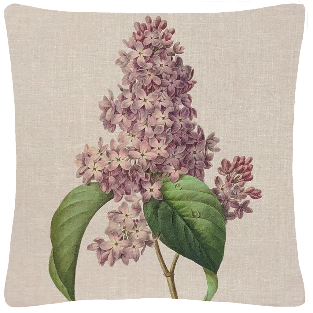 "Pink Lilac Pillow 18"" x 18"" - Golden Hill Studio"