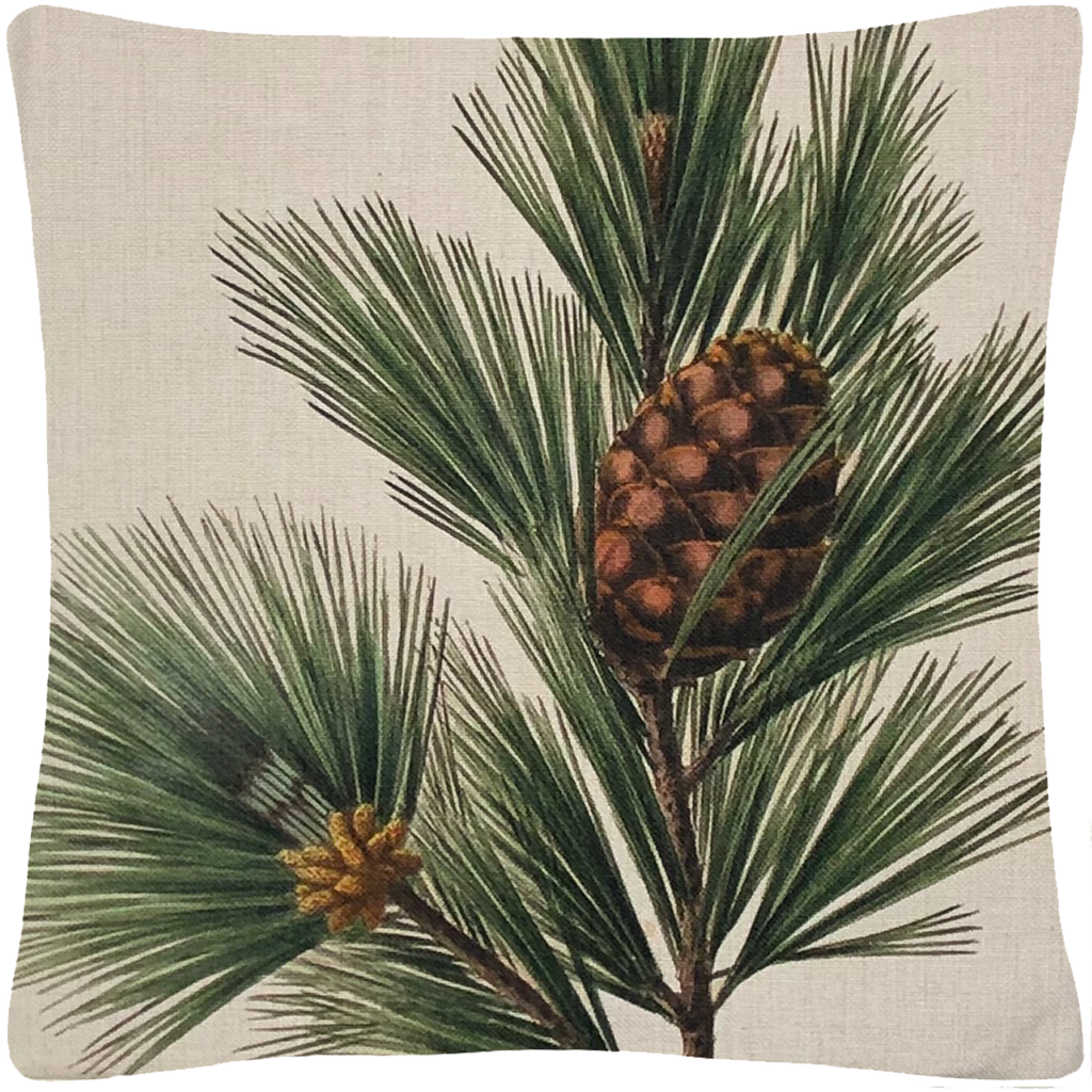 "Pine Bough Pillow  18"" x 18"" - Golden Hill Studio"