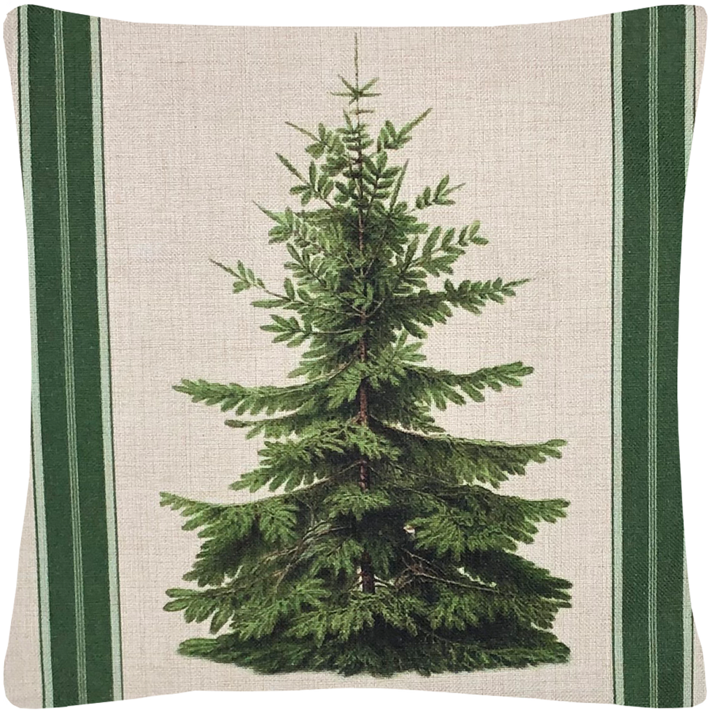 Pine Tree Throw Pillow With Insert - Golden Hill Studio