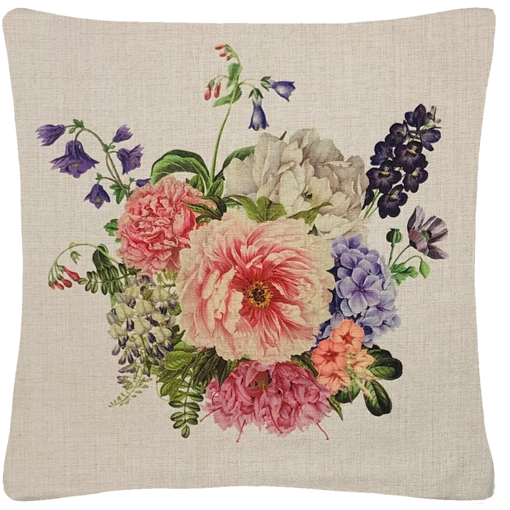 "Floral Bouquet Throw Pillow  18""x18"" - Golden Hill Studio"