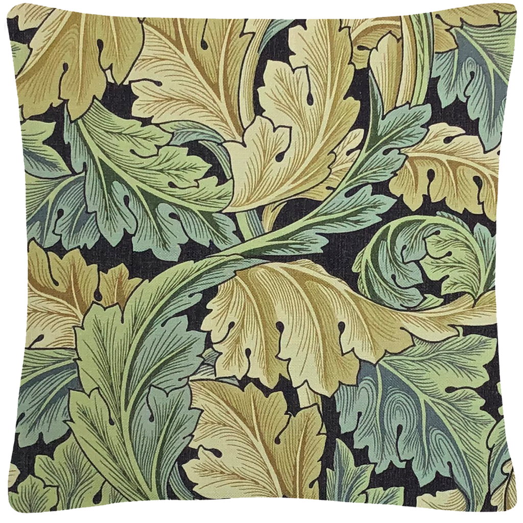 "William Morris Leaves Throw Pillow  18"" x 18"" - Golden Hill Studio"