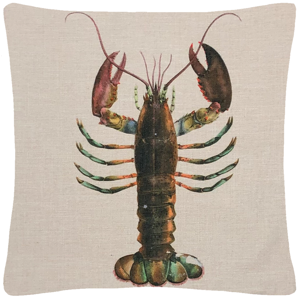 Lobster Throw Pillow 18 x 18 - Golden Hill Studio