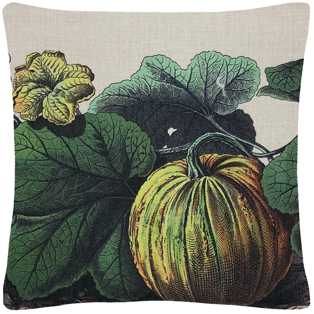 "Pumpkin Pillow 18"" x 18"" - Golden Hill Studio"