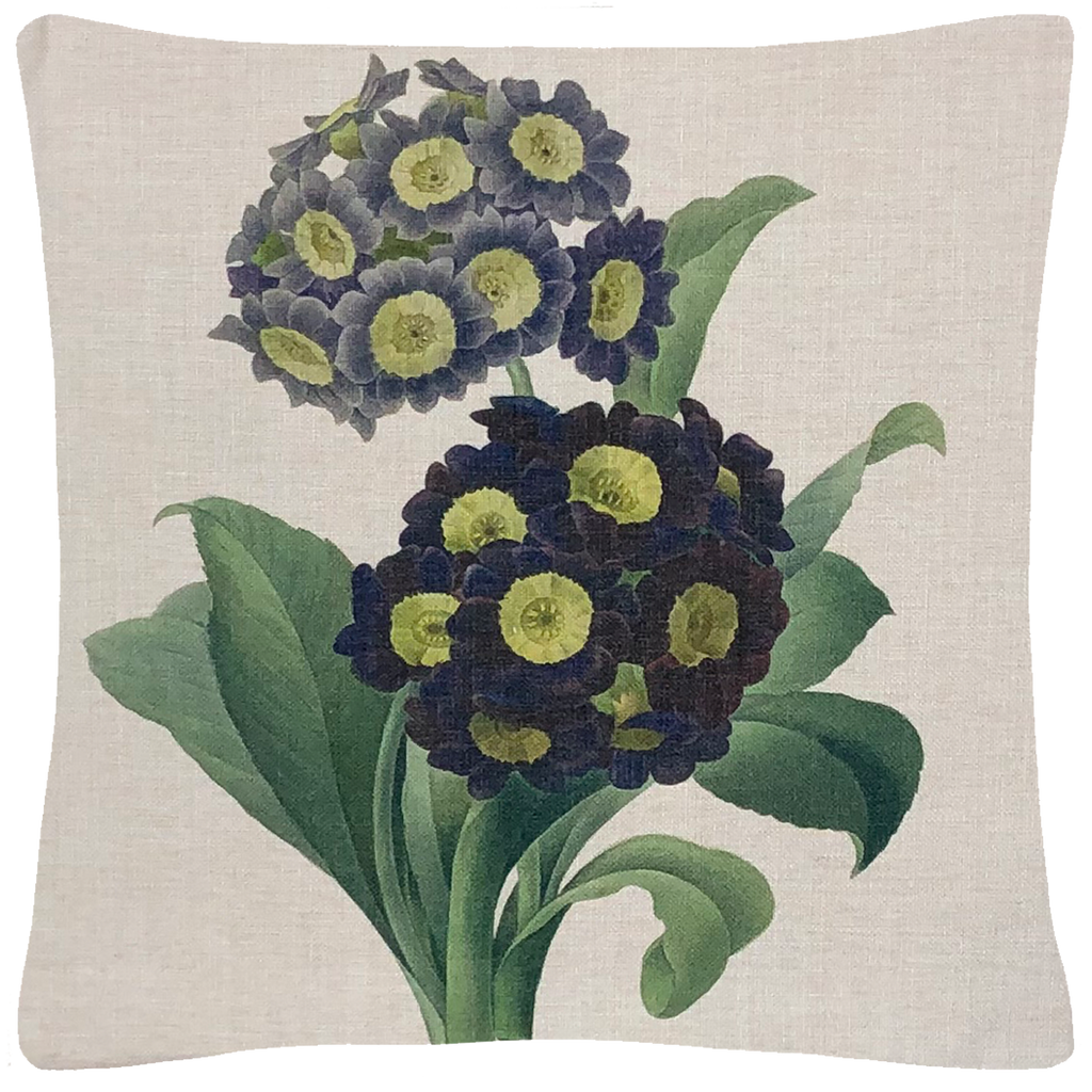 "Purple Primrose Pillow  18"" x 18"" - Golden Hill Studio"