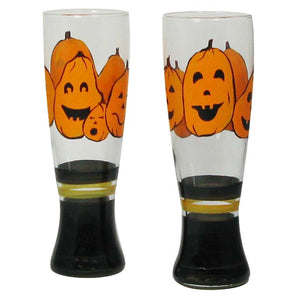 Pumpkin Family Pilsner Set of 2 - Golden Hill Studio
