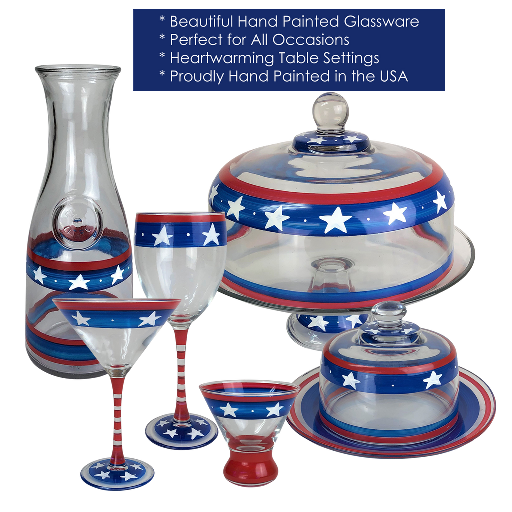 "Stars & Stripes 11"" Bowl - Golden Hill Studio"