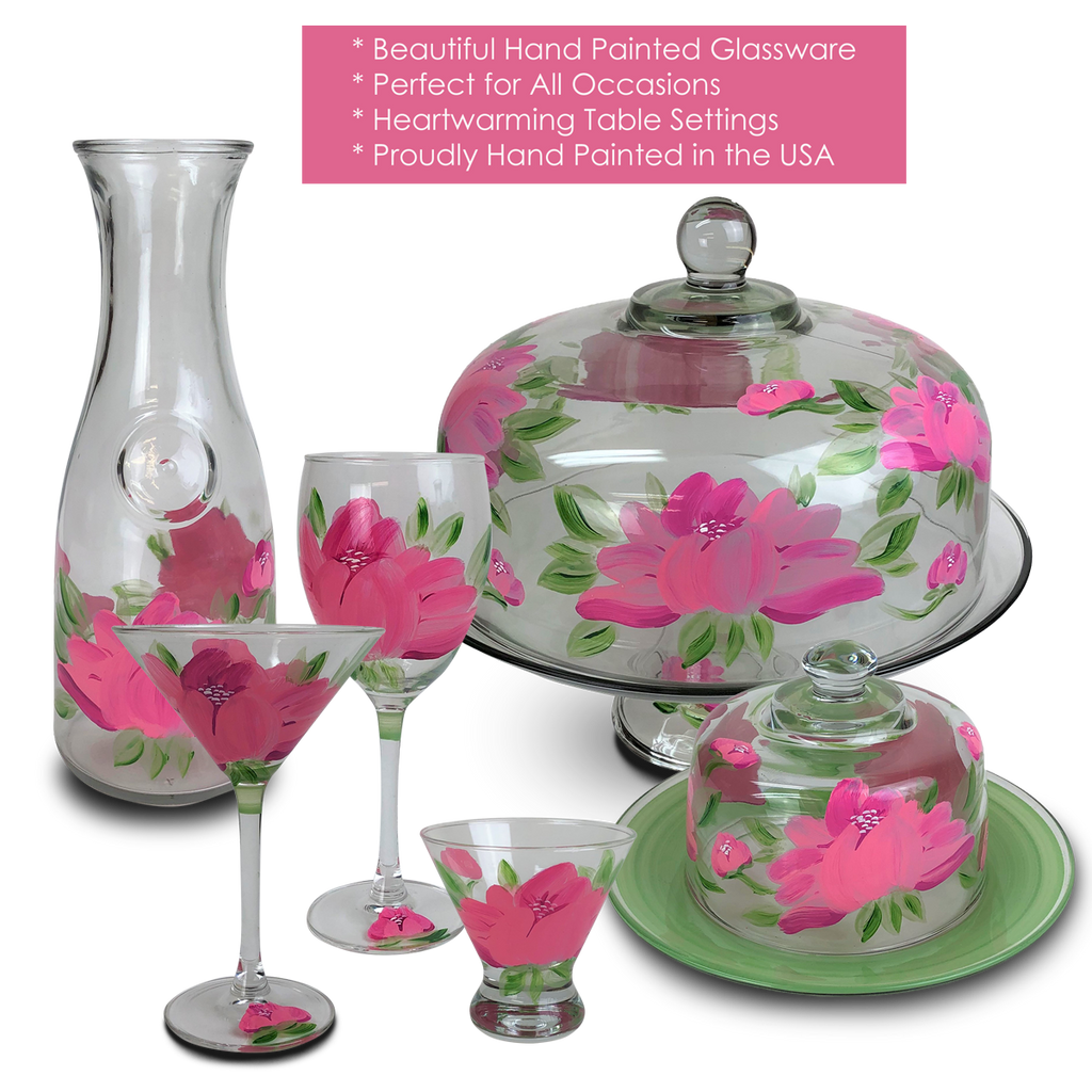 Polynesian Peony Cosmopolitan   Set of 2 - Golden Hill Studio