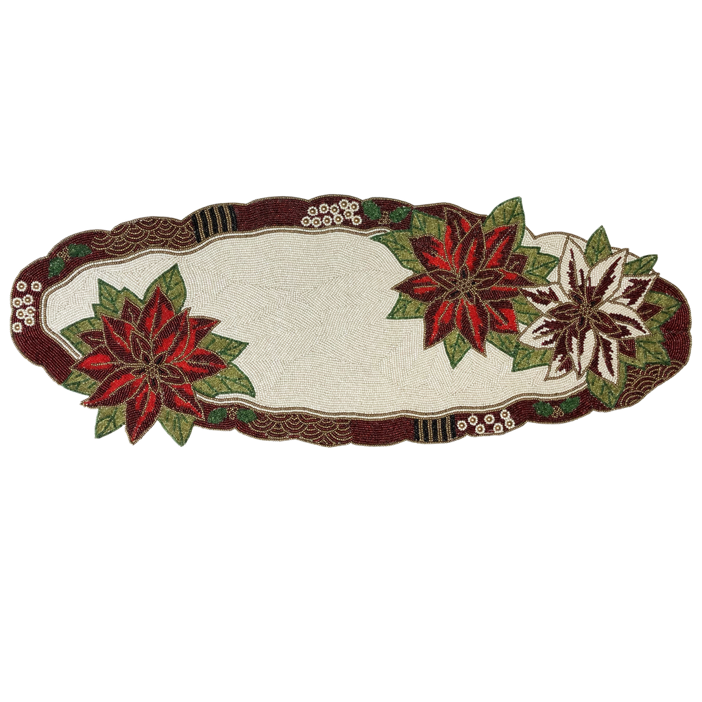 Poinsettia Table Runner - Golden Hill Studio