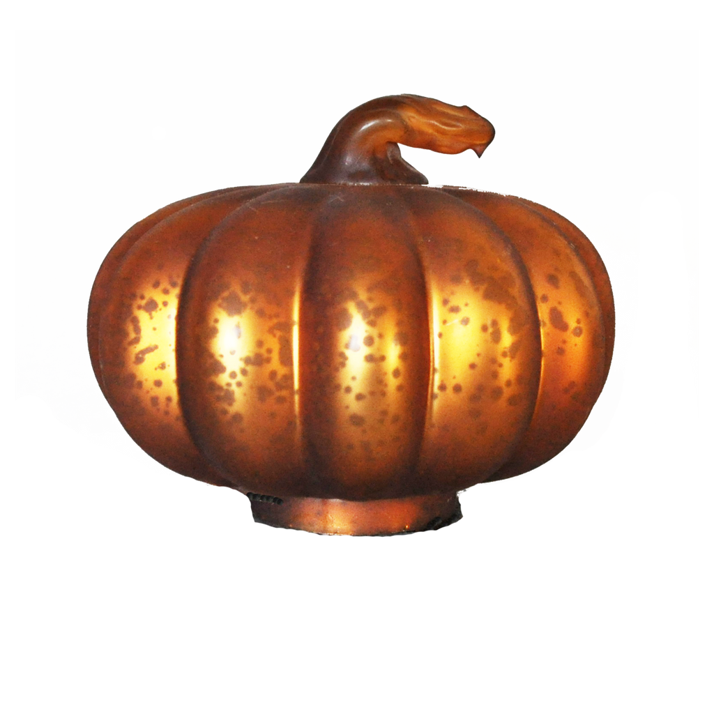 Mercury Glass Pumpkin Orange Matte - Golden Hill Studio