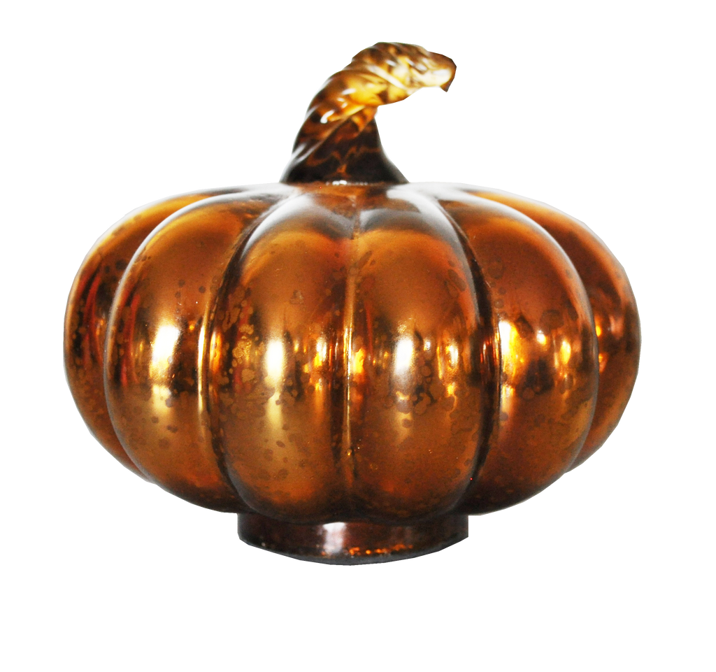 Mercury Glass Pumpkins Shiny