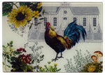 Rooster & Hen House Cheese Tray/Cutting Board - Golden Hill Studio