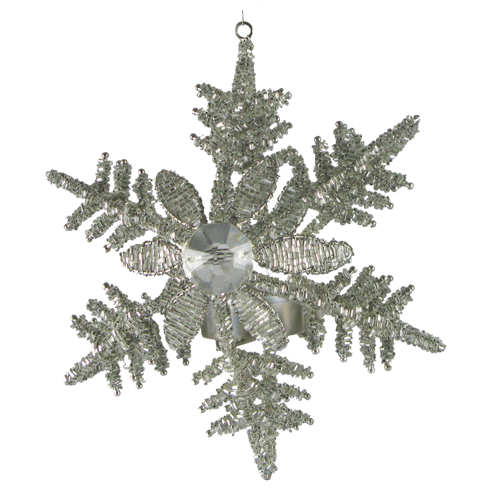 Snowflake Hanging T-Light Holder Large - Golden Hill Studio