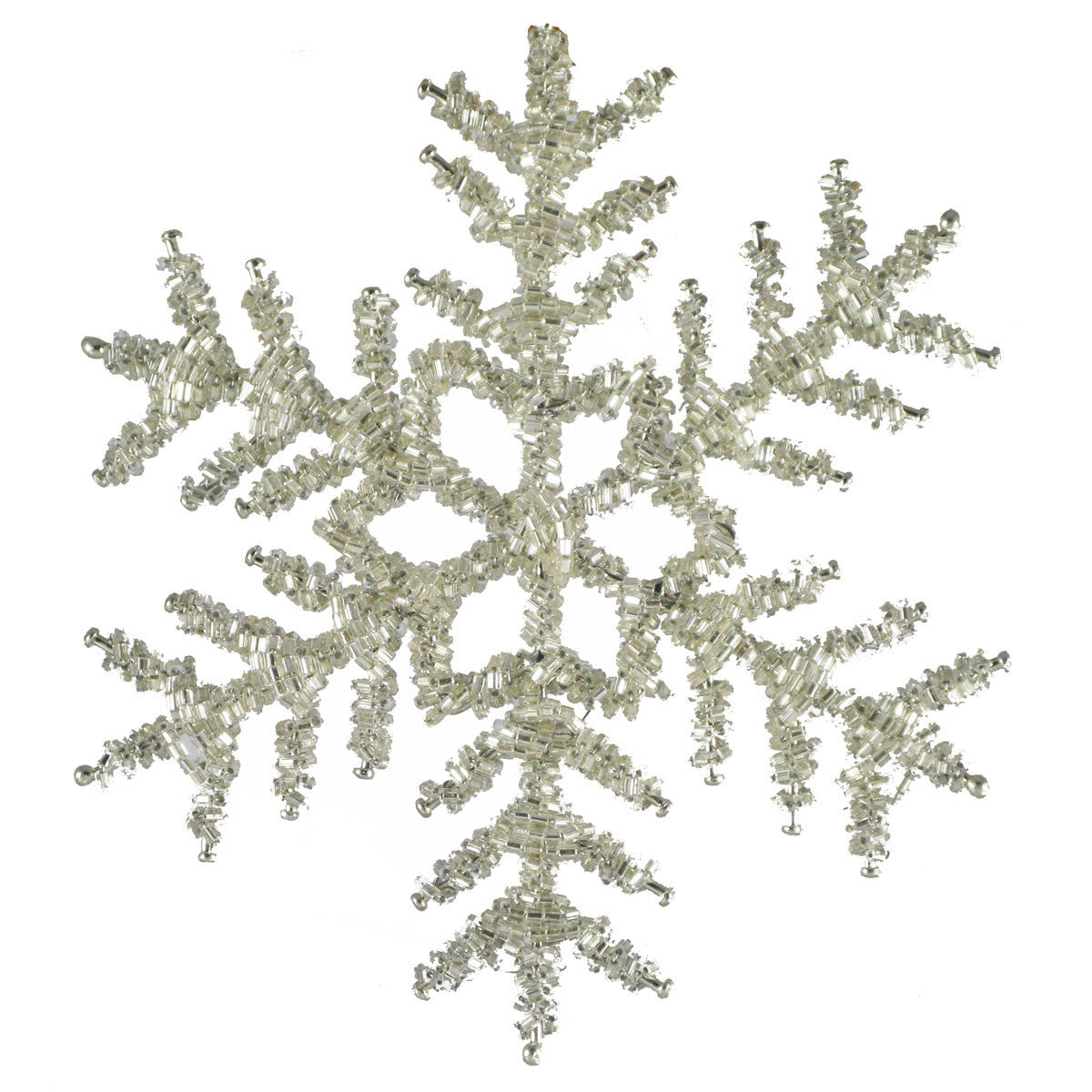 Beaded Snowflake Set of 2 - Golden Hill Studio