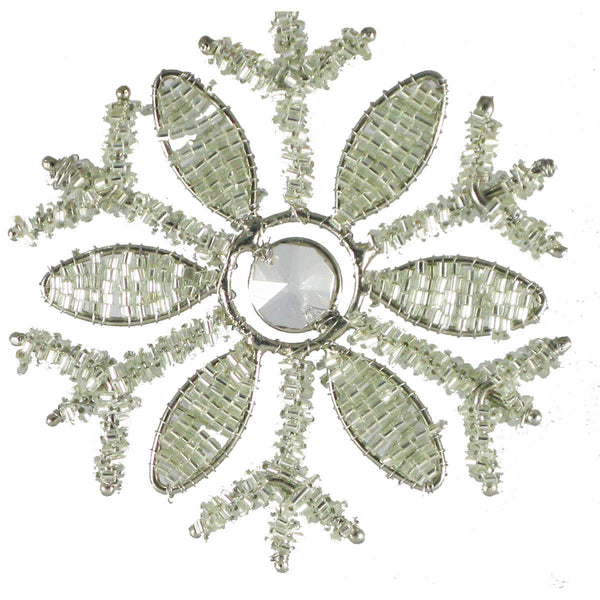 Beaded Snowflake - Golden Hill Studio