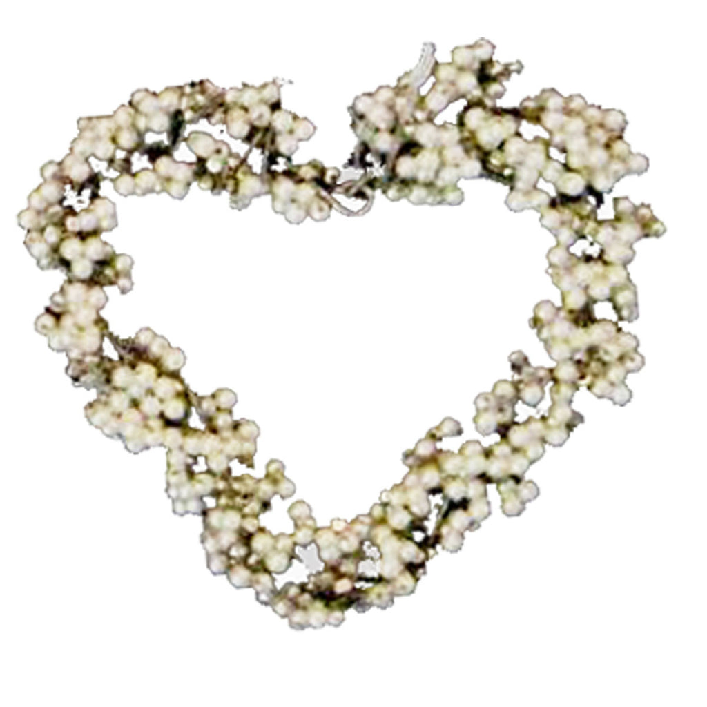 Sm Beaded Heart Set of 2 - Golden Hill Studio