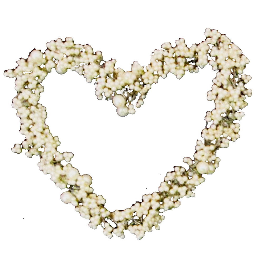 Lg Beaded Heart Set of 2 - Golden Hill Studio