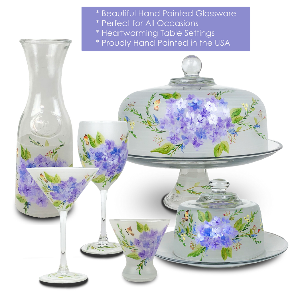 Springtime in Paris Margarita   Set of 2 - Golden Hill Studio