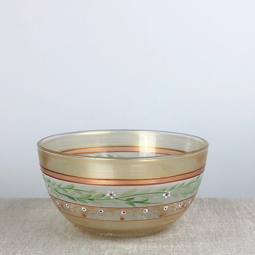 "Moroccan Mosaic Gold 6"" Bowl - Golden Hill Studio"