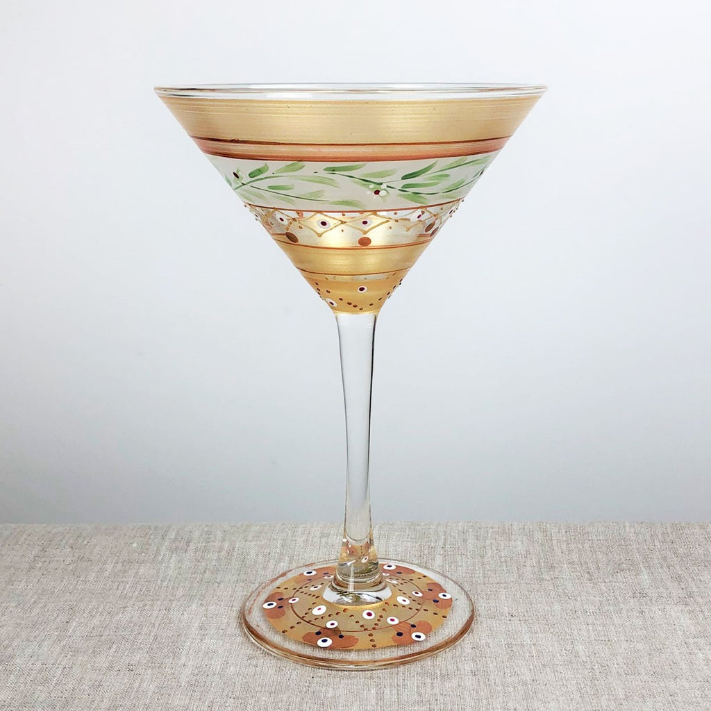 Moroccan Mosaic Gold Martini   Set of 2