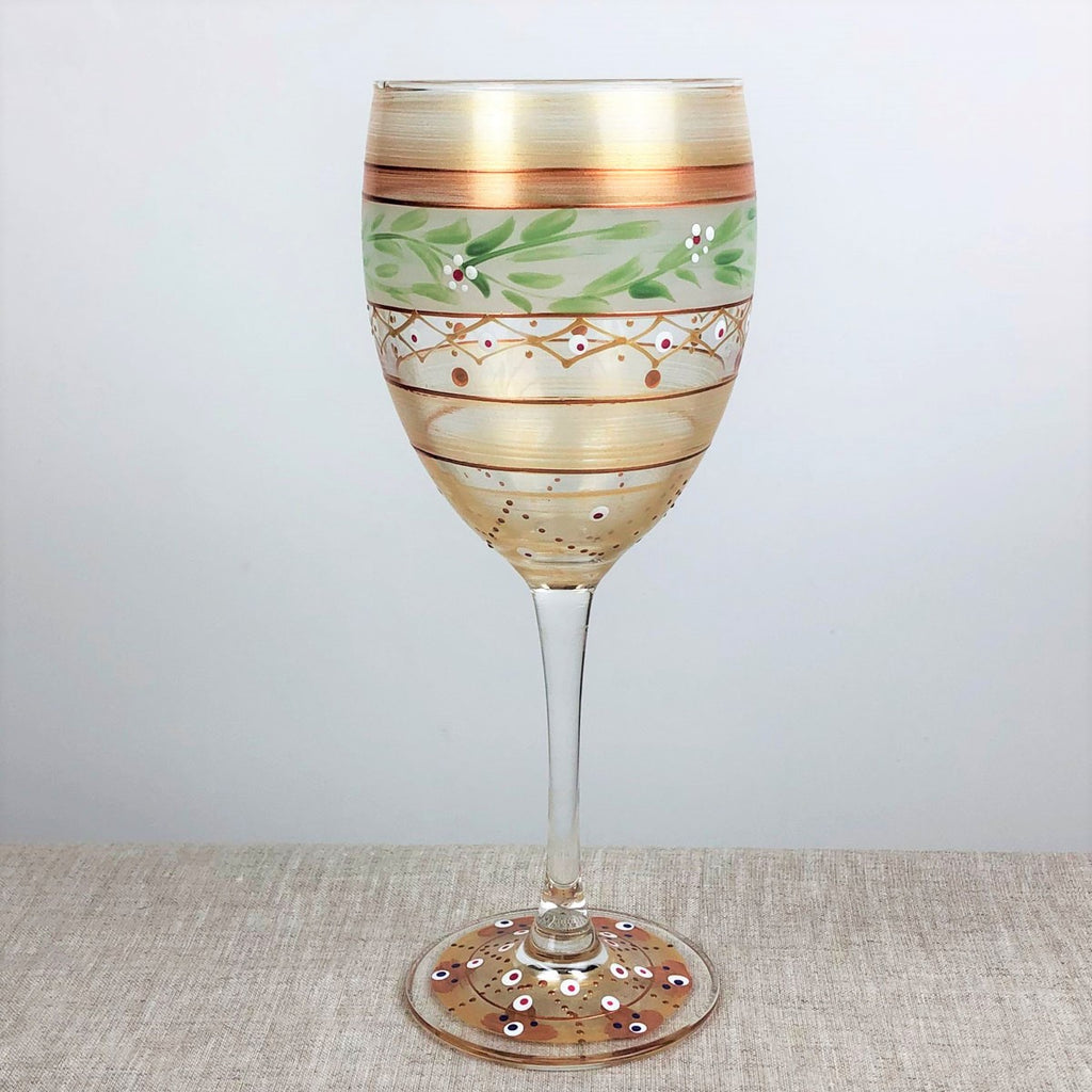 Moroccan Mosaic Gold Wine   S/2 - Golden Hill Studio