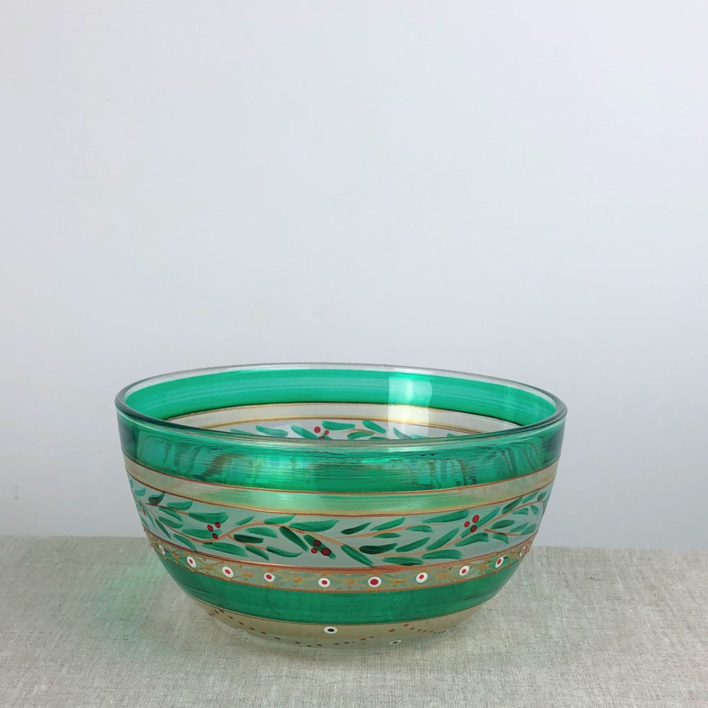 "Moroccan Mosaic Forest 6"" Bowl - Golden Hill Studio"
