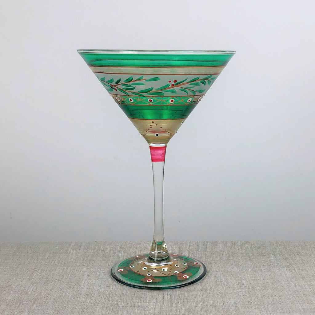 Moroccan Mosaic Forest Martini   S/2 - Golden Hill Studio