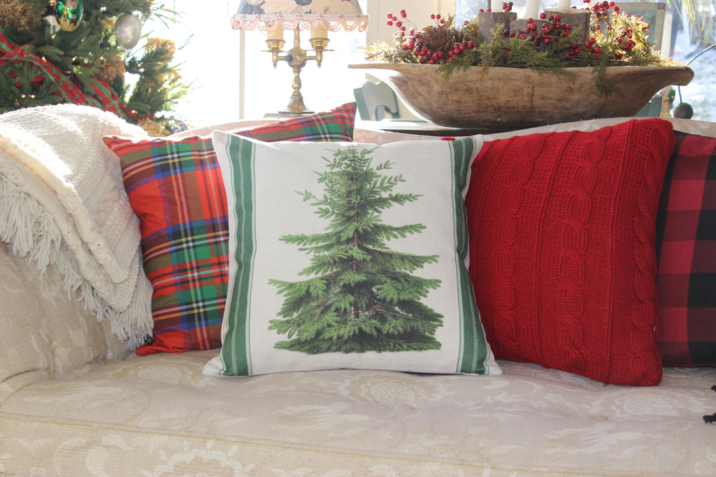 Pine Tree Throw Pillow With Insert