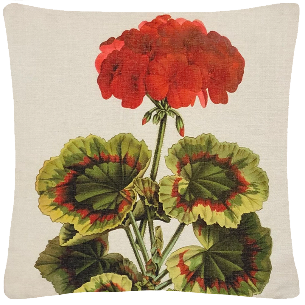 "Geranium Pillow  18"" x 18"" - Golden Hill Studio"