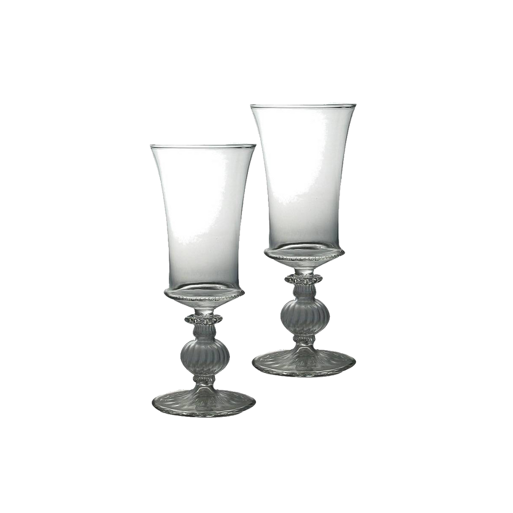 Blown Glass Goblet Set/2 - Golden Hill Studio