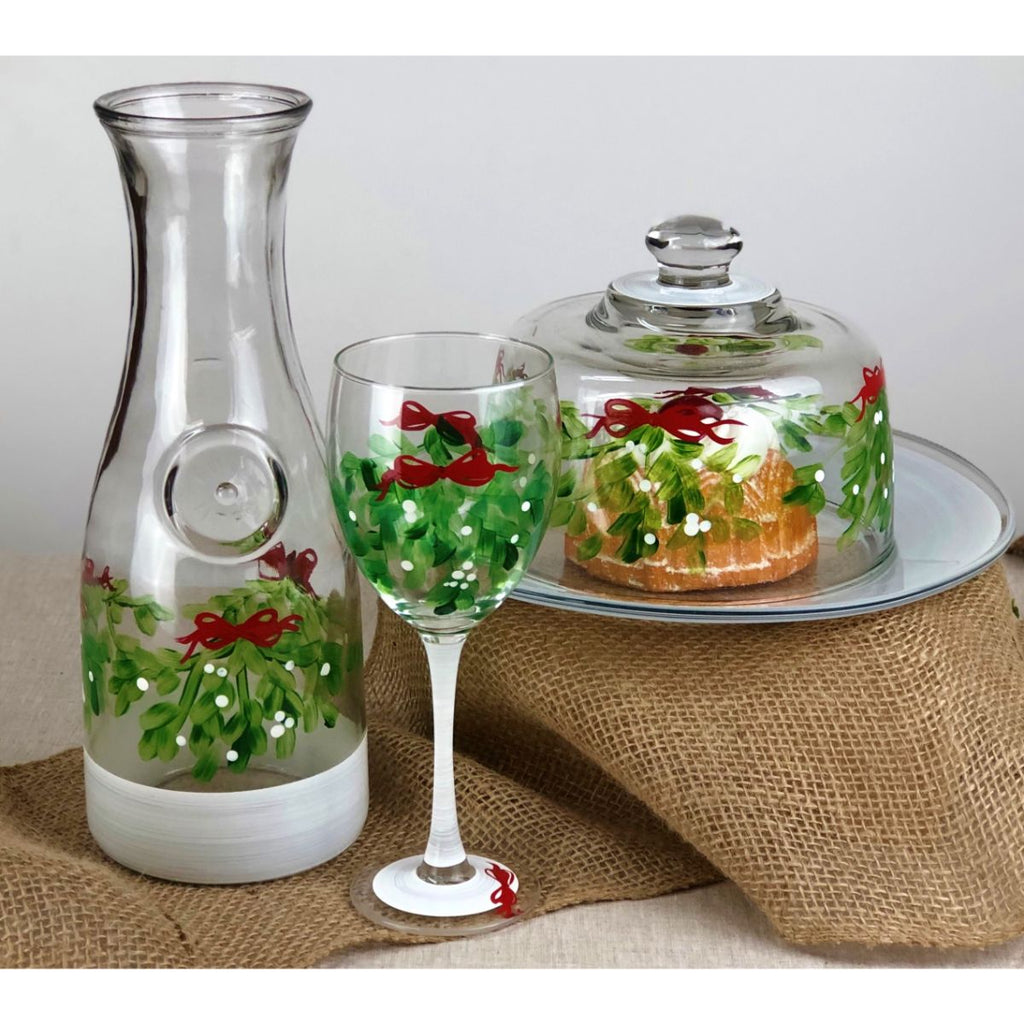 Mistletoe Love Carafe - Golden Hill Studio