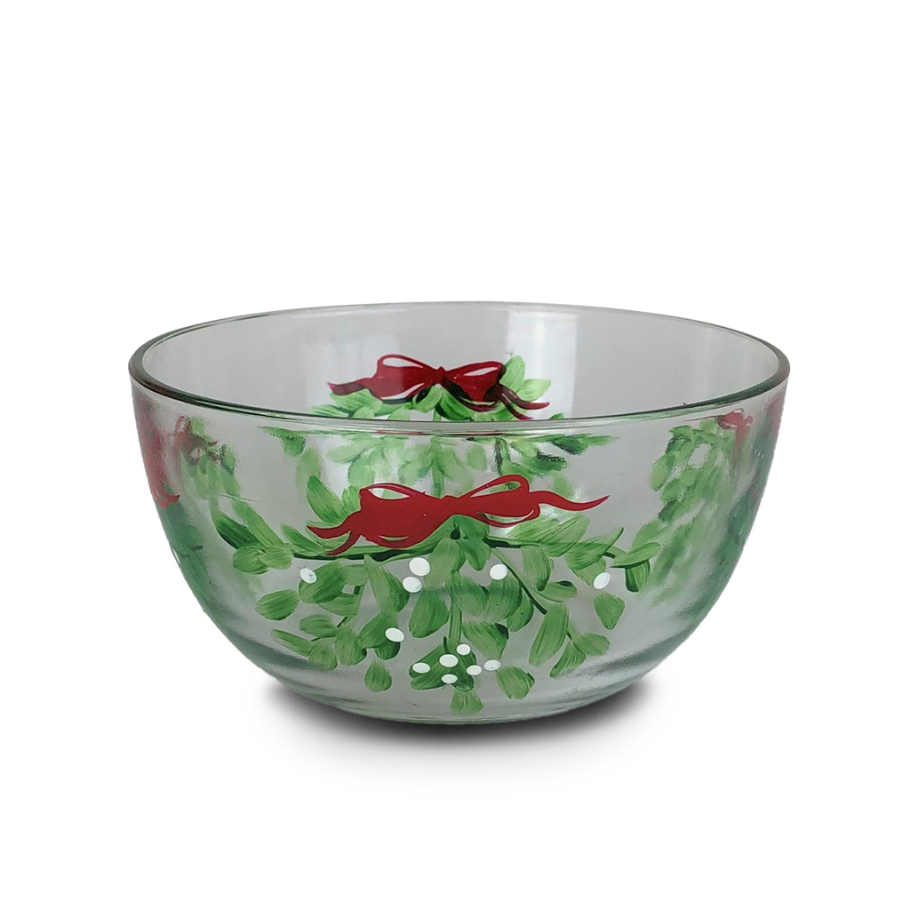 "Mistletoe Love 6"" Bowl - Golden Hill Studio"