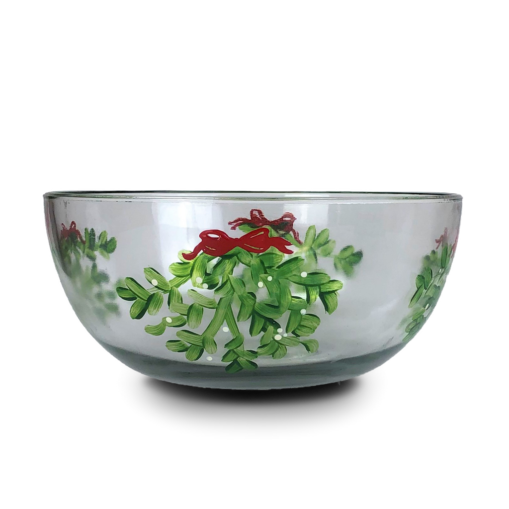 "Mistletoe Love 11"" Bowl - Golden Hill Studio"