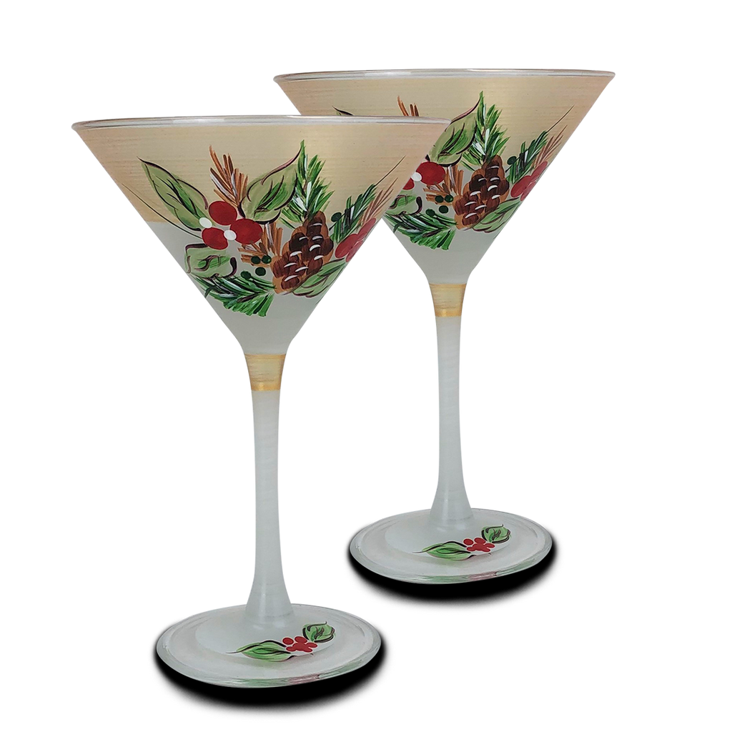 Black Forest Pine Martini S/2 - Golden Hill Studio