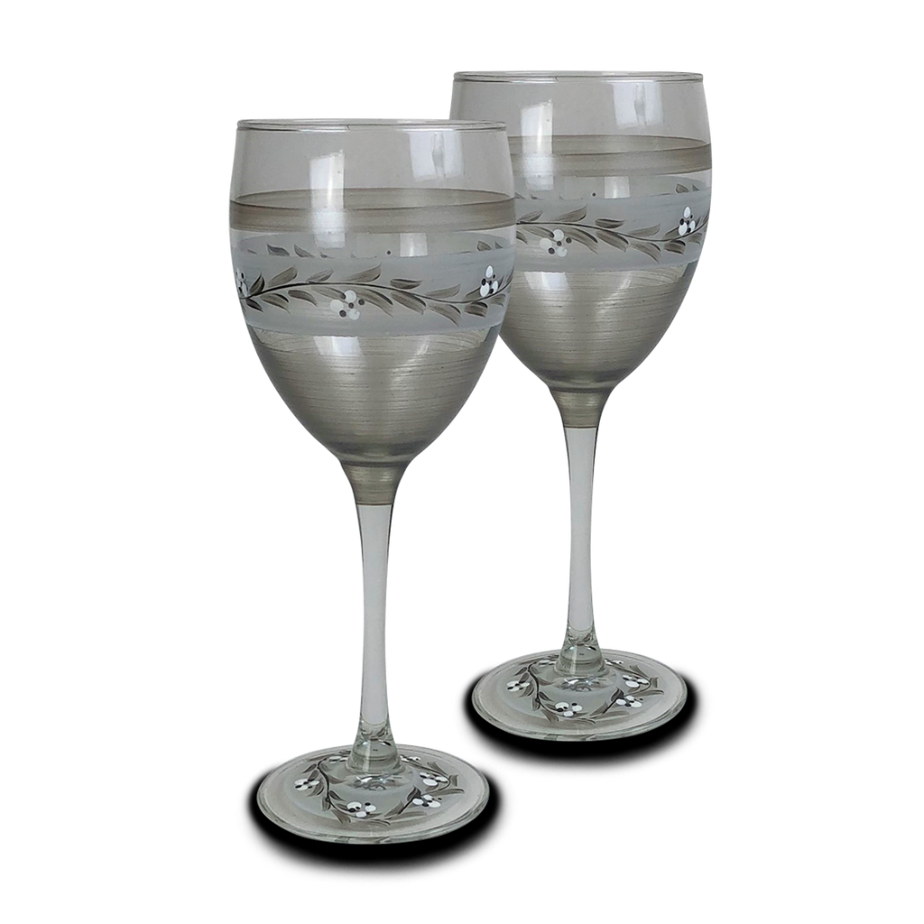 Swiss Twilight Wine   Set of 2 - Golden Hill Studio