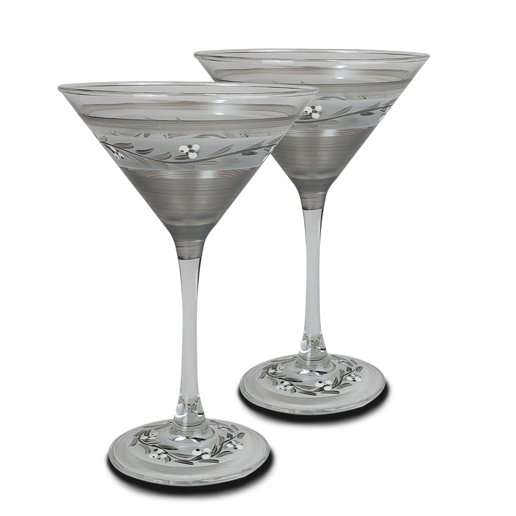 Swiss Twilight Martini   Set of 2 - Golden Hill Studio
