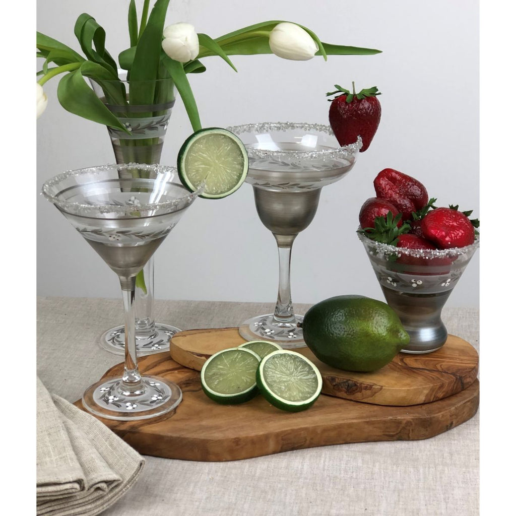 Swiss Twilight Margarita   Set of 2 - Golden Hill Studio