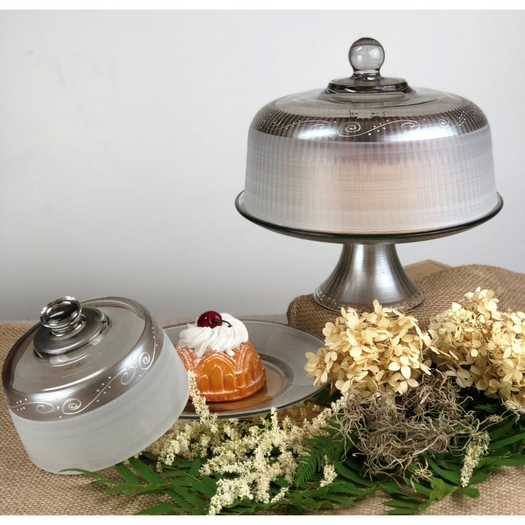Heirloom Swirl Cake Dome - Golden Hill Studio
