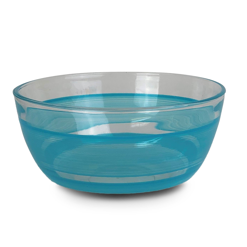 "Cape Cod Cottage Stripe Turquoise 6"" Bowl - Golden Hill Studio"