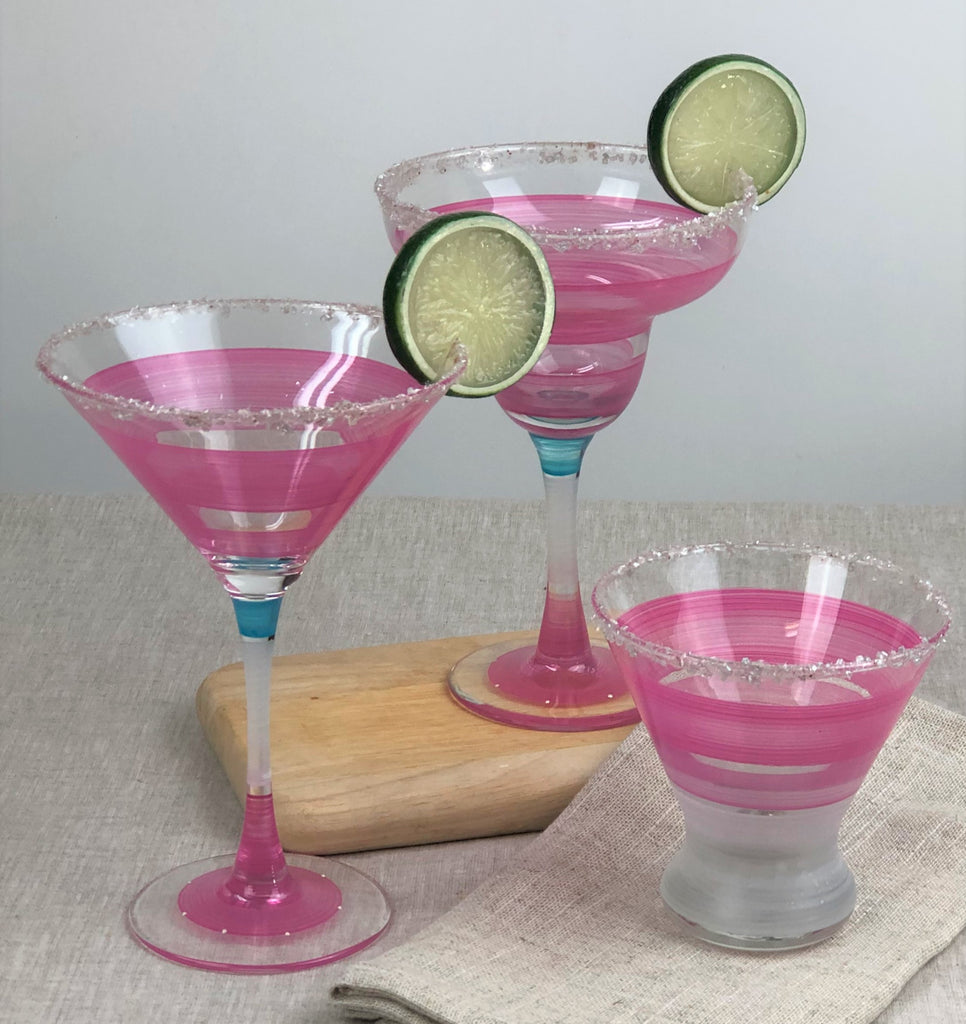 Cape Cod Cottage Stripe Pink Margarita - Golden Hill Studio