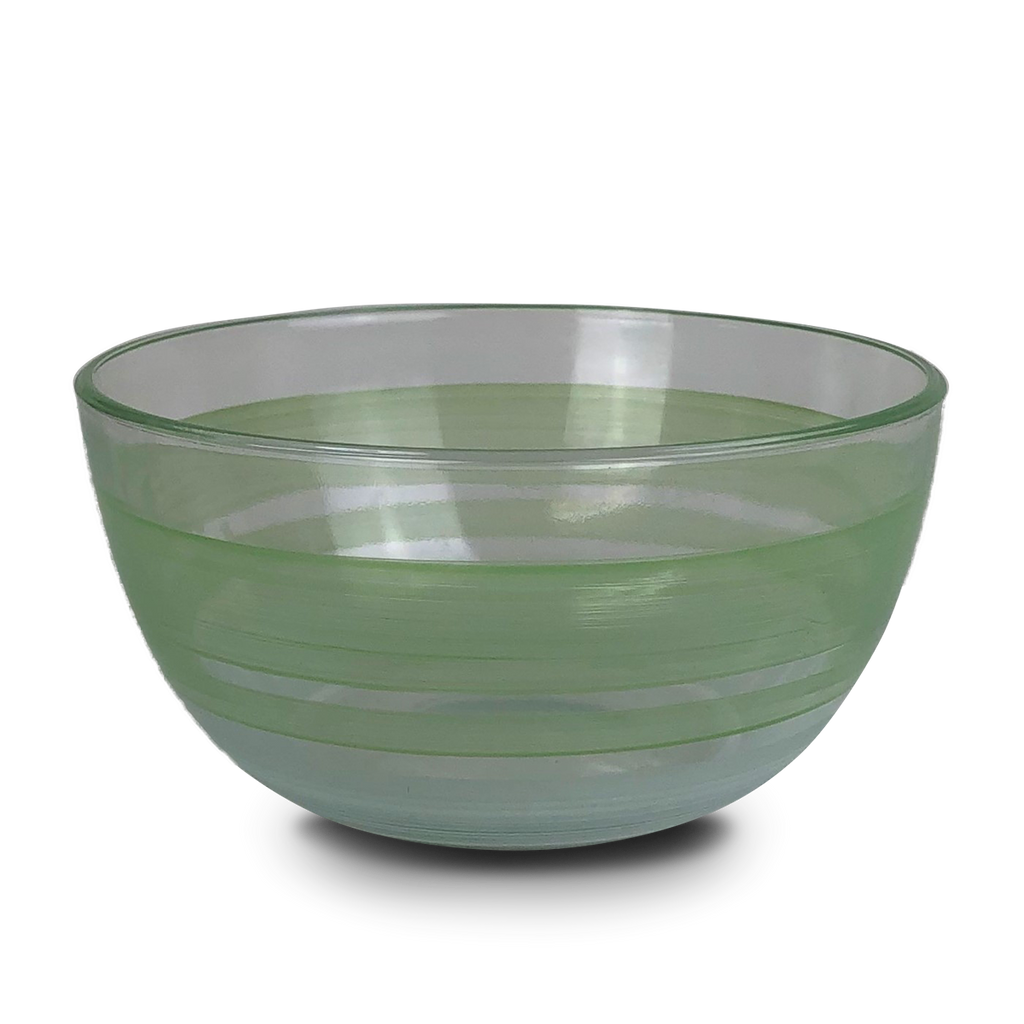 "Cape Cod Cottage Stripe Green 6"" Bowl - Golden Hill Studio"