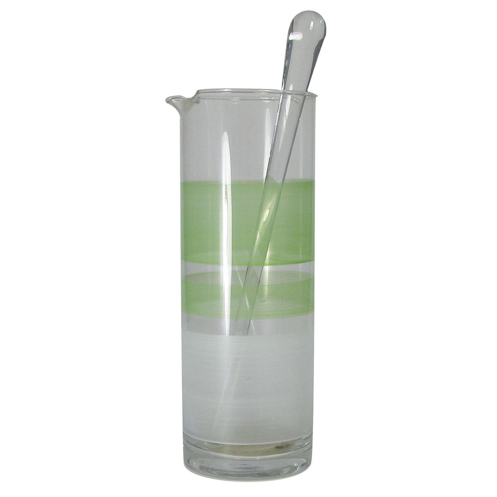 Retro Stripe Green Martini Pitcher