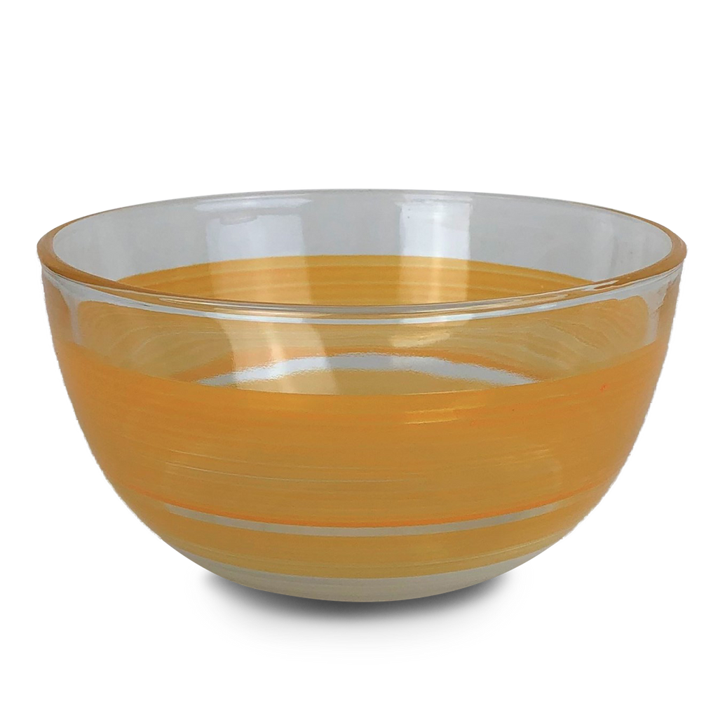 "Cape Cod Cottage Stripe Orange 6"" Bowl - Golden Hill Studio"