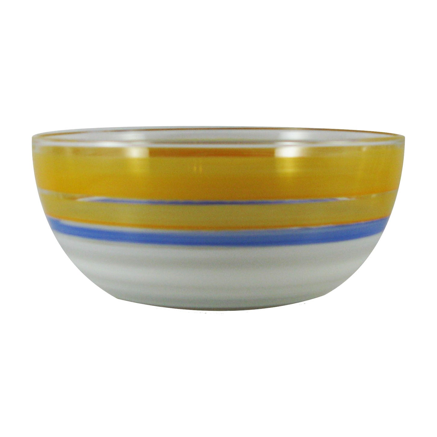 "Cape Cod Cottage Stripe Orange 11"" Bowl - Golden Hill Studio"
