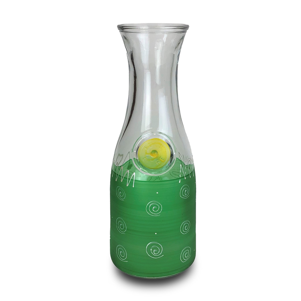 Peruvian Splendor Dk Green Carafe - Golden Hill Studio