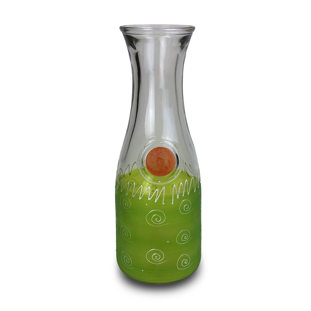 Peruvian Splendor Lt Green Carafe - Golden Hill Studio