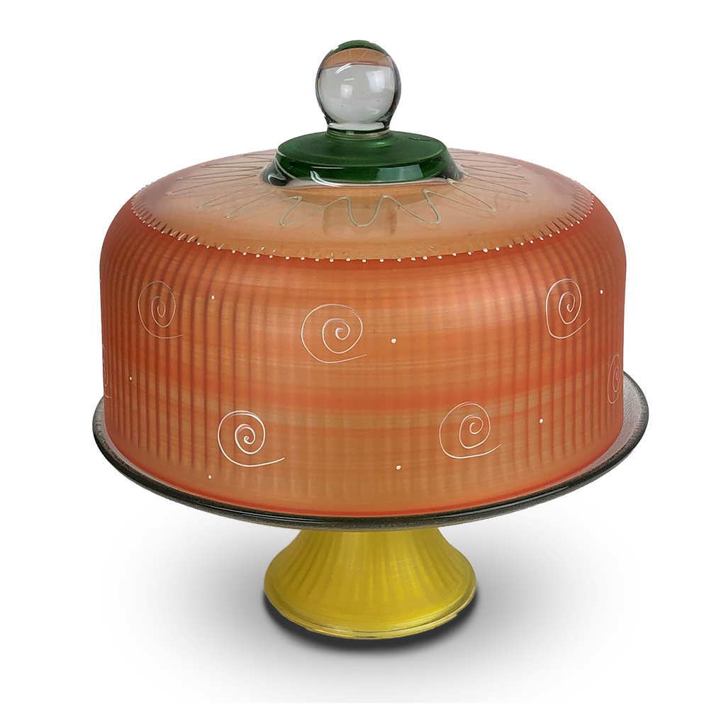 Peruvian Splendor Orange Cake Dome - Golden Hill Studio