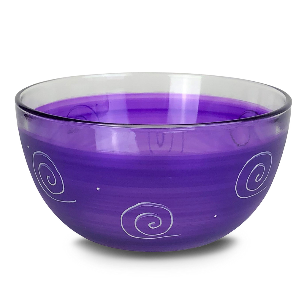 "Peruvian Splendor Purple 6"" Bowl - Golden Hill Studio"