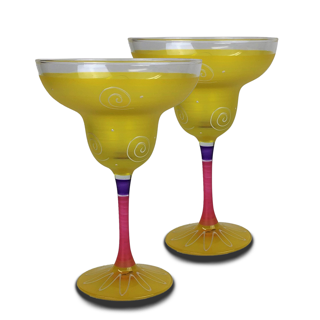 Peruvian Splendor Yellow Margarita   Set of 2 - Golden Hill Studio